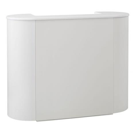Reception Desk Metal White Metal